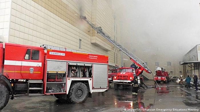 Russland Kemerowo - Brand in Einkaufszentrum (Imago/TASS/Russian Emergency Situations Ministry)