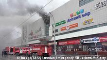 Russland Kemerowo - Brand in Einkaufszentrum