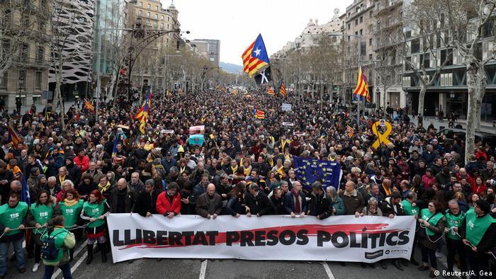 Spanien Barcelona Demonstration nach Inhaftierung von Puigdemont