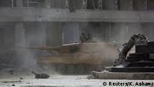 Türkei Afrin Stadtzentrum Türkischer Panzer Kawa-Statue