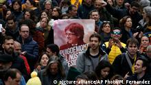 Spanien Demonstration nach Inhaftierung von Puigdemont in Barcelona
