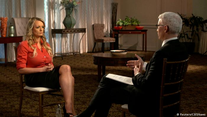 Pornostar Stormy Daniels im Interview zu Trump (Reuters/CBSNews)