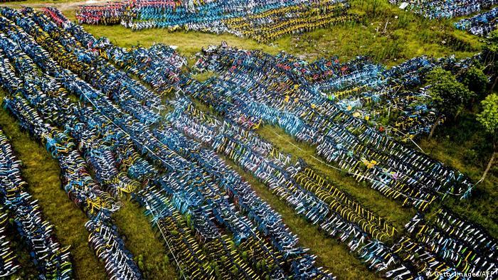 Велосипедні цвинтарі в Китаї