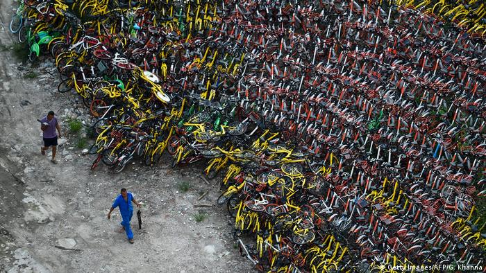 China bikeshare bike graveyard (Getty Images/AFP/G. Khanna)