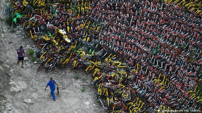 China bikeshare bike graveyard
