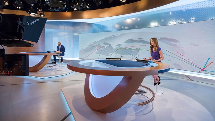 Studio der Sendung DW-News, DW-Nachrichten