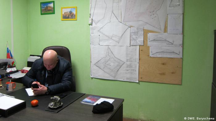 В кабинете начальника полигона Ядрово