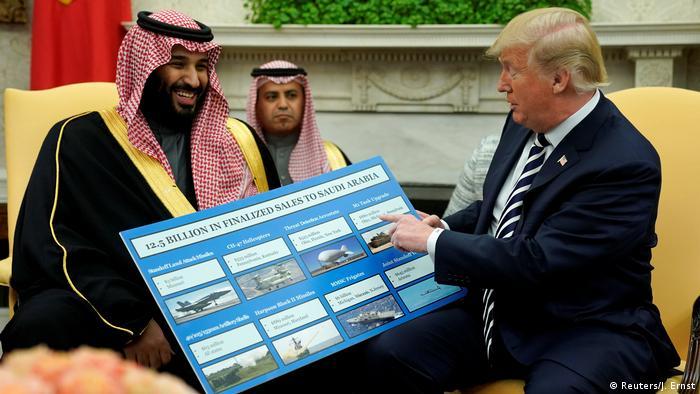 ولي العهد السعودي مع الرئيس الأمريكي السابق ترامب في المكتب البيضاوي في 20 مارس/ آذار 2018.