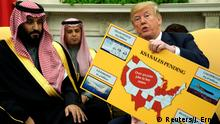 USA Mohammed bin Salman, Kronprinz Saudi-Arabien & Donald Trump in Washington