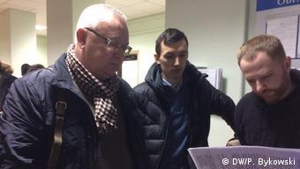 Олег Гулак и два других правозащитника в суде Советского района Минска