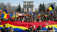 26.03.2018 +++ Proteste in Chisinau, Hauptstadt der Republik Moldau, für die Wiedervereinigung mit Rumänien.