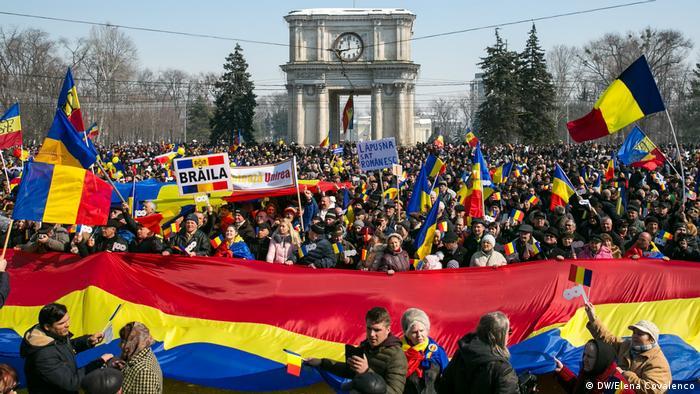 Moldau: Demonstration für Wiedervereinigung in Chisinau
