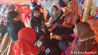 Rohingya and locals learn together, how to tell the stories from the camp.