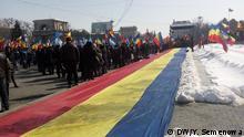 Kundgebung in Moldau für Vereinigung Moldau und Rumänien