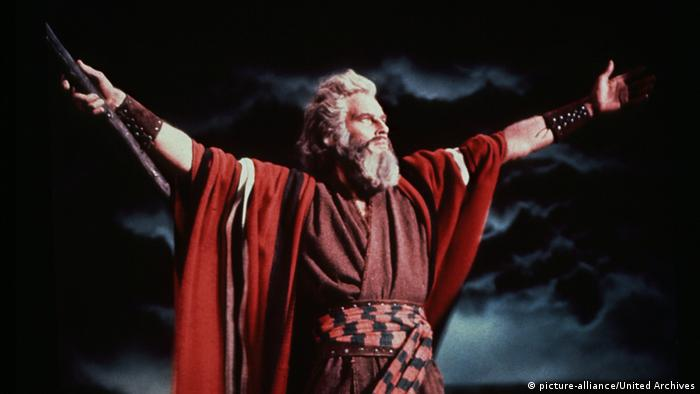 Charlton Heston in the film The Ten Commandments