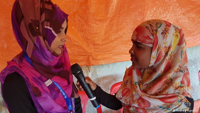 Spoken word is the best way of telling stories in Kutupalong. An estimated 70 percent of Rohingya are illiterate.