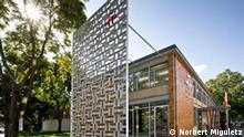 Die Gebäudeansicht des Instituts Cervantes in Frankfurt