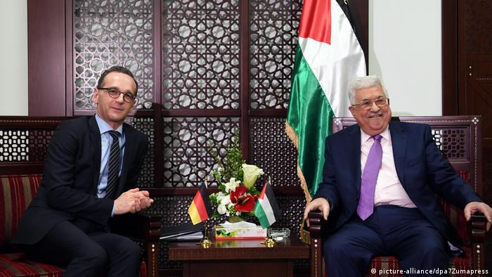 Heiko Maas and Mahmoud Abbas (picture-alliance/dpa7Zumapress)