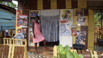 Friseurstudio in Ghana