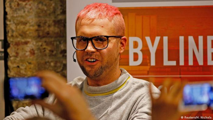 Christopher Wylie, a whistleblower who formerly worked with Cambridge Analytica (Reuters/H. Nichols)