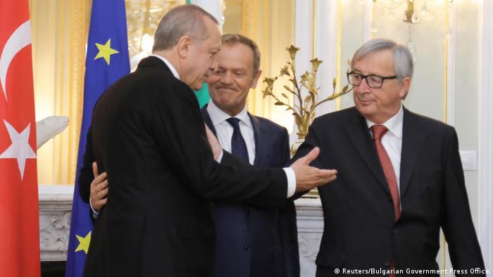 Erdogan, Donald Tusk and Jean-Claude Juncker