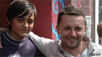 Tomasz (rechts) mit seinem Freund Neron (Foto: ako)