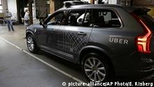 FILE - In this Tuesday, Dec. 13, 2016, file photo, an Uber driverless car is displayed in a garage in San Francisco. A fleet of self-driving Uber cars is headed to Arizona after they were banned from California roads over safety concerns. (AP Photo/Eric Risberg, File) |