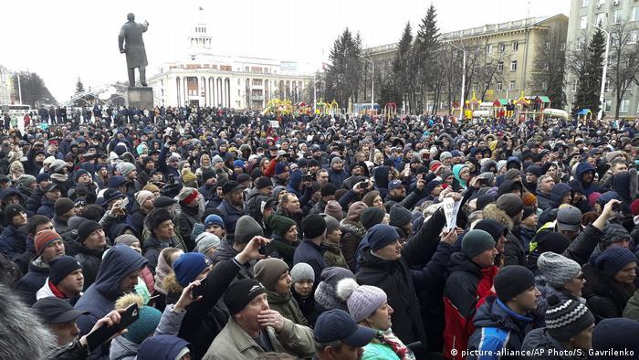 Russland Gedenken in Kemerowo nach Brand in Einkaufszentrum