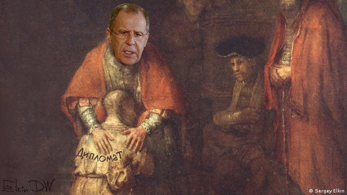 Serghei Lavrov - caricatură de Sergey Elkin