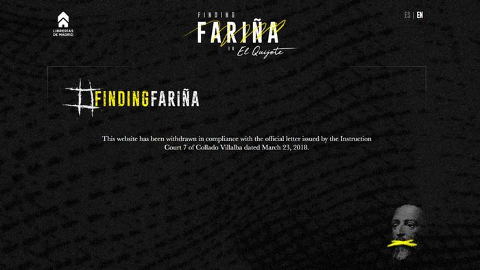 Screenshot Findingfarina.com