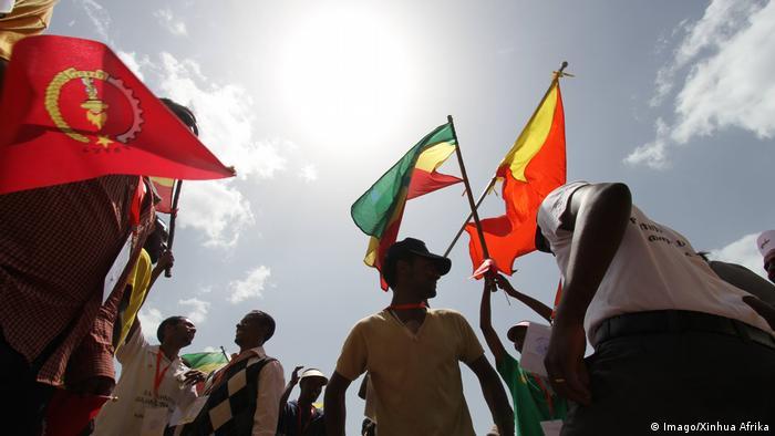 Äthiopien Anhänger der Partei EPRDF