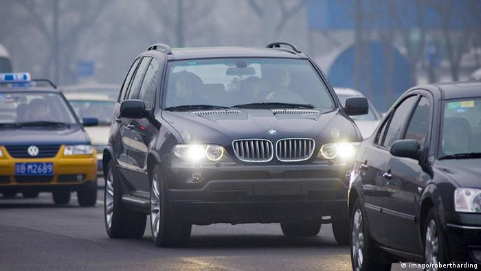 A BMW X5 On The Road In China