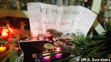 Moskau Protest Gedenken Brandkatastrophe Einkaufszentrum in Kemerowo