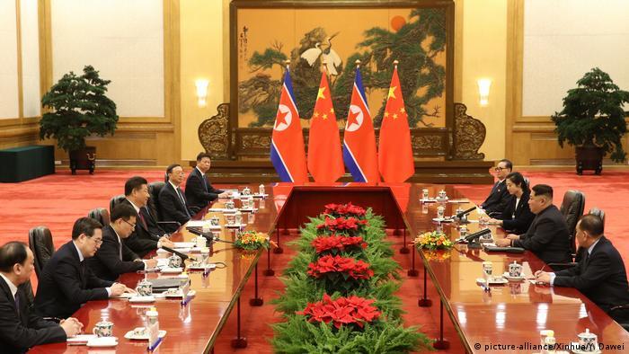 Peking China Nordkorea Gespräche Xi Jinping Kim Jong Un (picture-alliance/Xinhua/Y. Dawei)