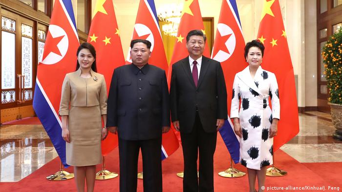 Peking China Nordkorea Gespräche Xi Jinping Kim Jong Un (picture-alliance/Xinhua/J. Peng)