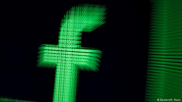 Facebook Logo shown in Matrix-style green binary code (Reuters/D. Ruvic)
