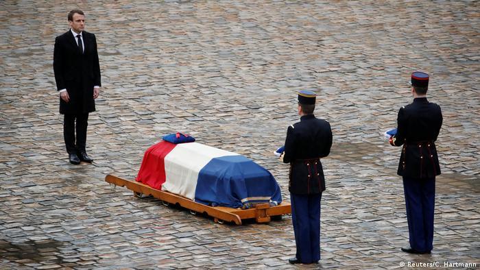 Frankreich Gedenkfeier für den getöteten Polizisten Arnaud Beltrame (Reuters/C. Hartmann)