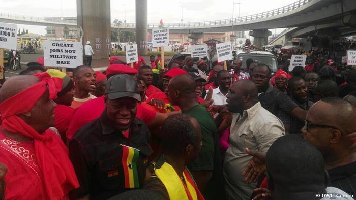 Ghana Demonstration gegen Militärabkommen mit den USA