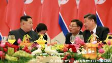 China Kim Jong Un, Nordkorea bei Präsident Xi Jinping in Peking (picture-alliance/Newscom/KCNA)