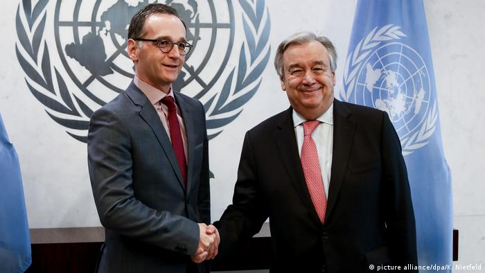 Foreign Minister Heiko Maas with UN Secretary General Antonio Guterres