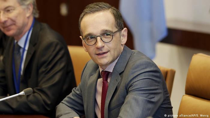 Foreign Minister Heiko Maas at the meeting with UN Secretary General Antonio Guterres