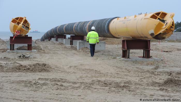 Deutschland Ostsee-Erdgaspipeline Nord Stream in Lubmin