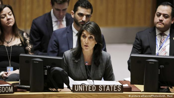 USA Nikki Haley UN-Botschafterin (picture-alliance/Photoshot/L. Muzi)