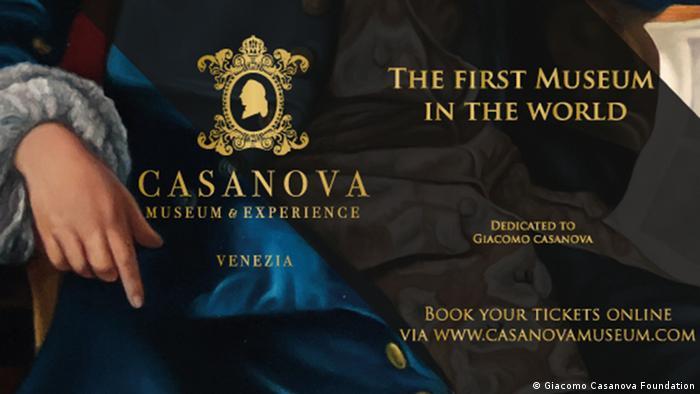 Плакат музея Казановы