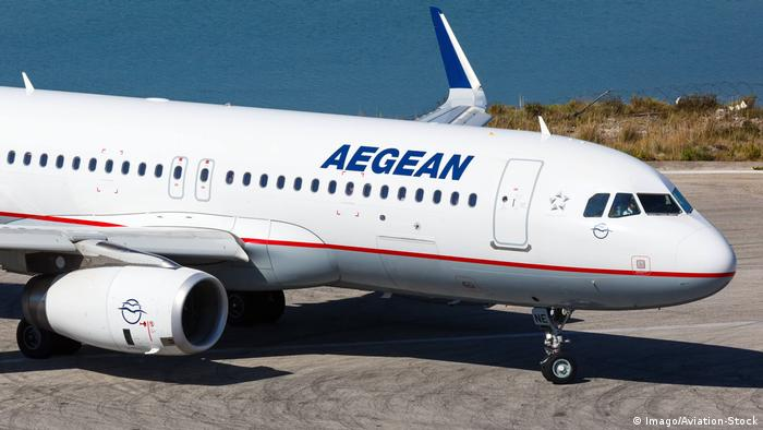 Fluggesellschaft Aegean Airlines (Imago/Aviation-Stock)