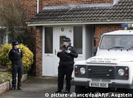 Правоохоронці біля будинку Скрипаля у Великобританії (архівне фото)
