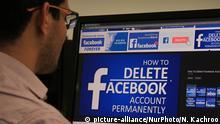 Symbolbild Facebook und Indien