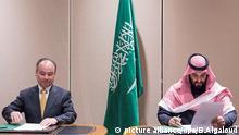Mohammed bin Salman und Masayoshi Son