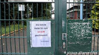 The closed Japanese school in Duesseldorf