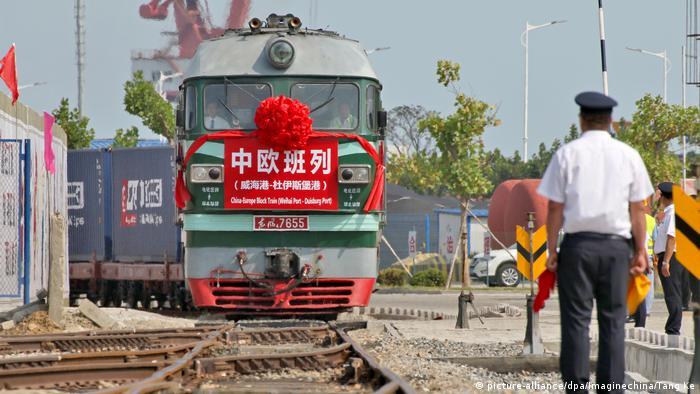 China Frachtzug von Weihai nach Duisburg
